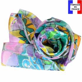 Echarpe soie Gaudi – Fleurs Mauresques