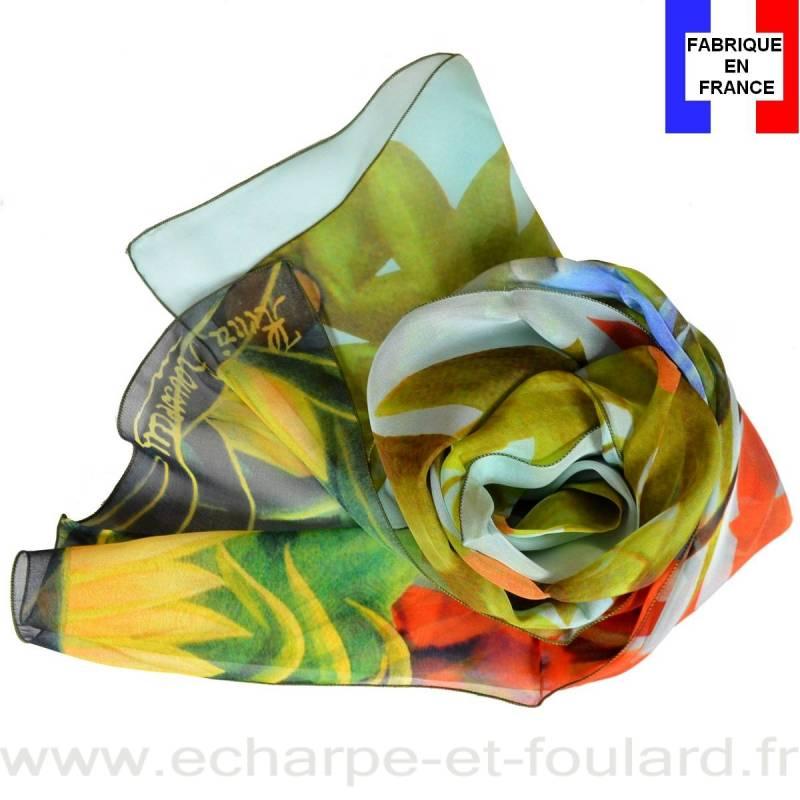 Echarpe soie Rousseau – La Jungle