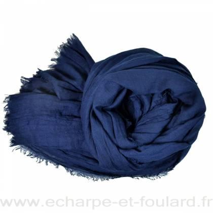 Grand cheche bleu marine