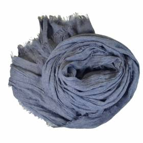 Grand cheche gris bleuté