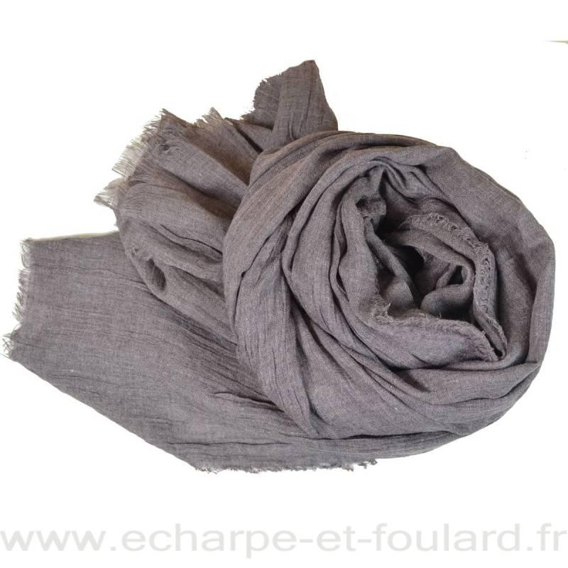 Grand cheche gris-marron