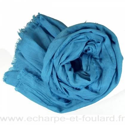 Grand cheche turquoise foncé
