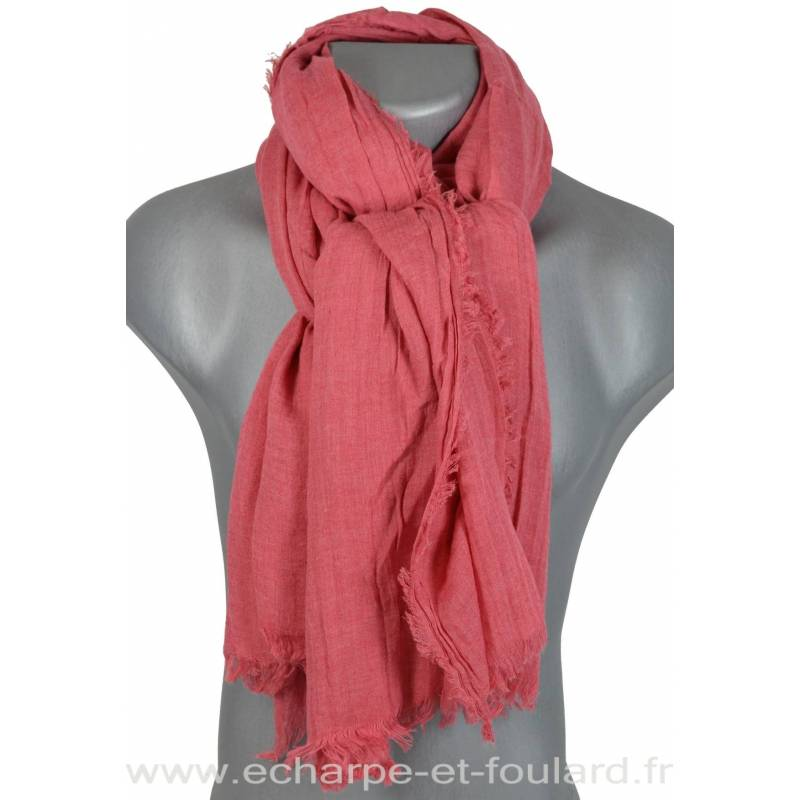 Grand cheche rose chiné