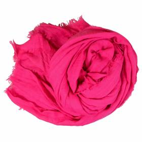 Grand cheche rose fuchsia