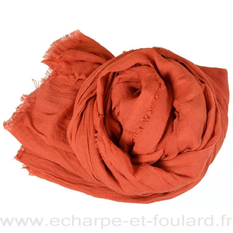 Grand cheche orange foncé
