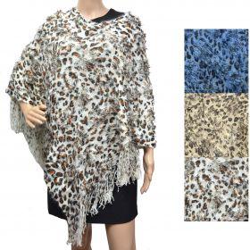 Poncho tricot panthère