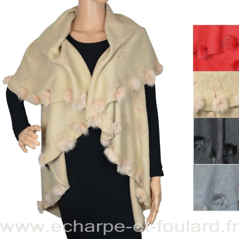 Poncho rond et lapin
