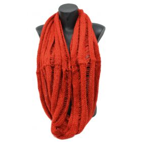 Snood tricot orange