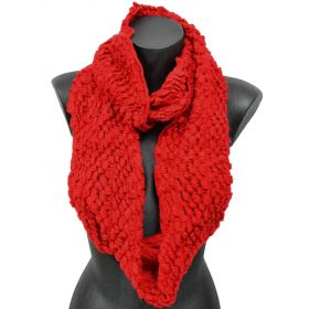 Snood tricot  rouge