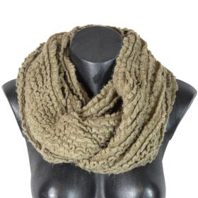 Snood tricot beige