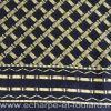 Foulard en soie homme noir et or