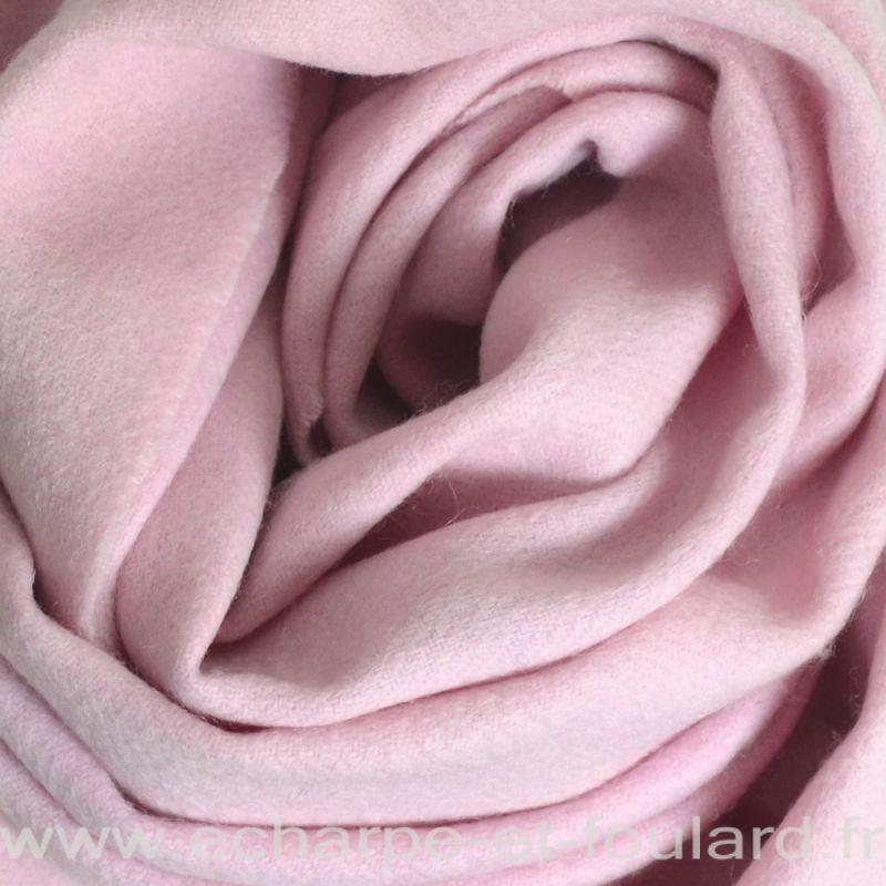Echarpe en 100% cachemire rose clair
