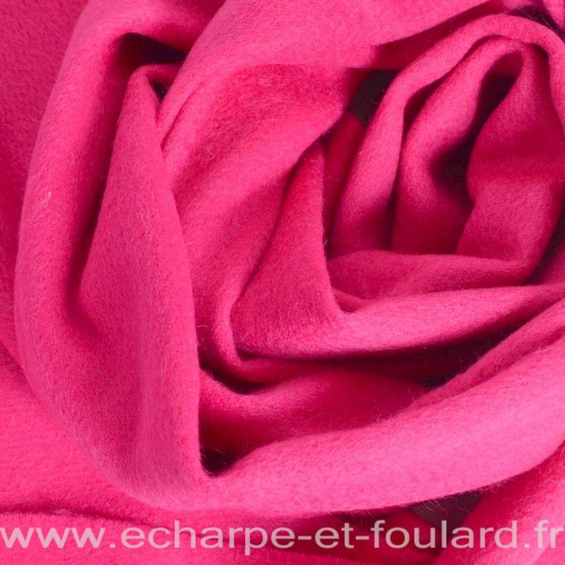Echarpe en 100% cachemire rose fuchsia