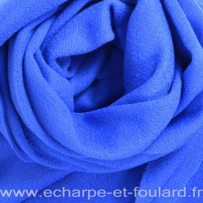 Echarpe en 100% cachemire bleu