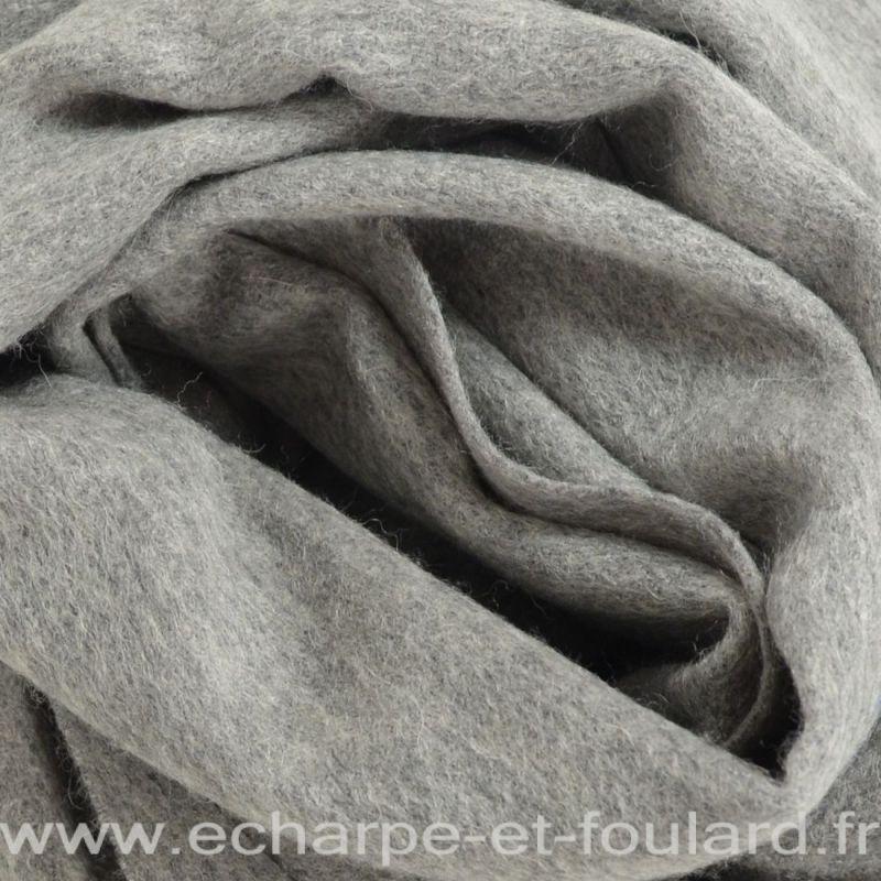 Echarpe en 100% cachemire gris foncé