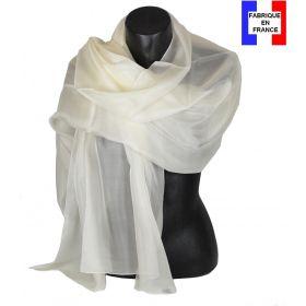 Etole cérémonie en soie écrue fabriquée en France