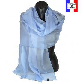 Etole cérémonie en soie bleu-ciel fabriquée en France