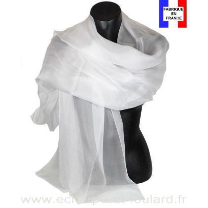 Etole cérémonie en soie blanche fabriquée en France