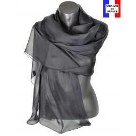 Etole cérémonie en soie noire fabriquée en France