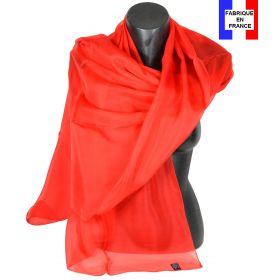 Etole cérémonie en soie rouge fabriquée en France