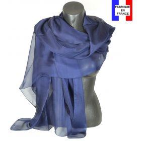 Etole cérémonie en soie bleu-marine fabriquée en France