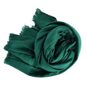 Etole 88cm en 100% cachemire NZO SBARBERI vert-sapin