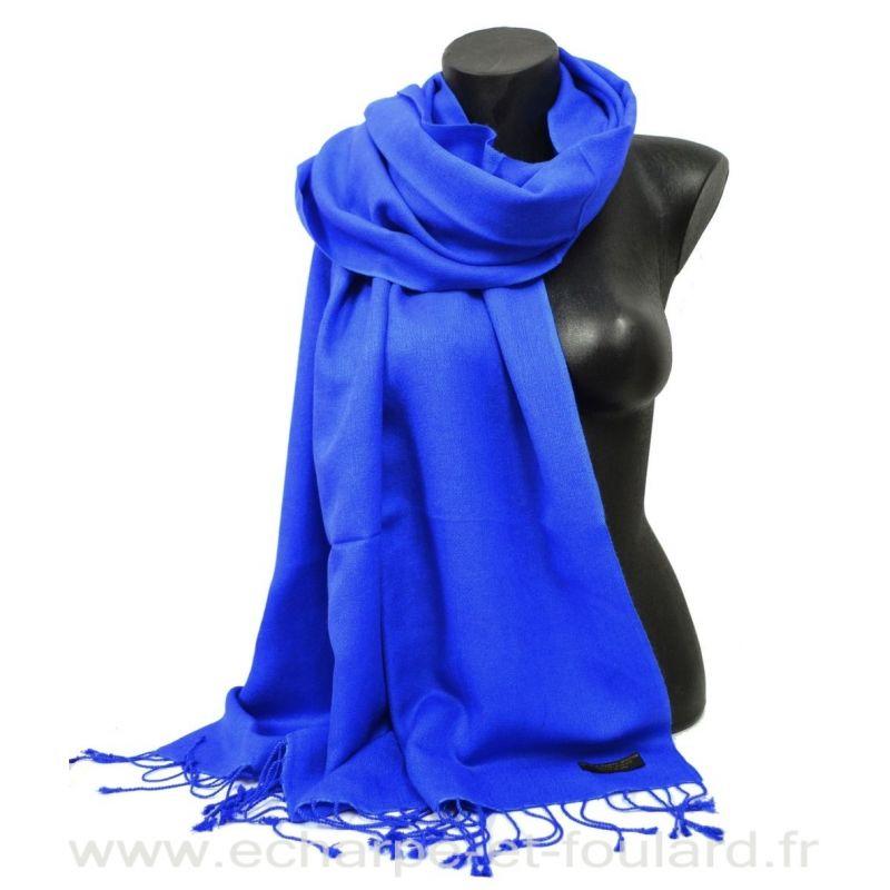 Etole soie et cachemire NZO SBARBERI bleu roi