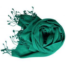 Etole soie et cachemire NZO SBARBERI vert pin