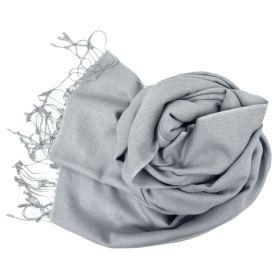Etole soie et cachemire NZO SBARBERI gris clair