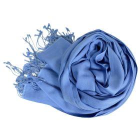 Etole soie et cachemire NZO SBARBERI bleu dénim