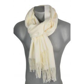 Echarpe très douce cachemire-laine écrue