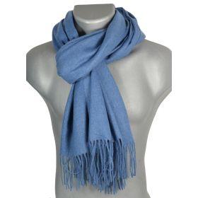 Echarpe très douce cachemire-laine blue-jean