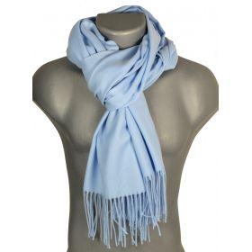 Echarpe très douce cachemire-laine bleu-ciel