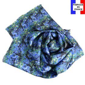 Echarpe soie homme  Cézanne – Paysage Bleu