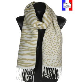 Echarpe Zebra beige made in France
