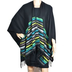 Poncho Vibration noir made in France