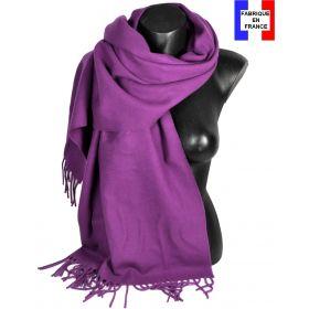 Châle en laine Iris rose foncé made in France