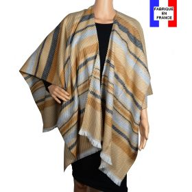 Poncho Velour beige made in France