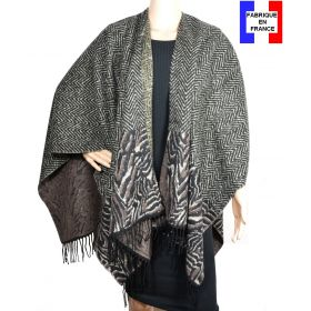 Poncho uni Hybride gris made in France
