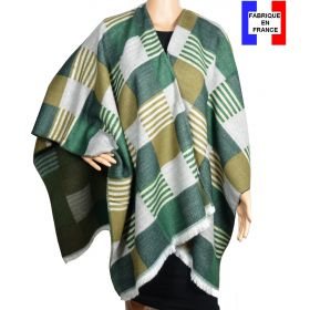 Poncho Luxury vert made in France