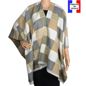 Poncho Luxury gris made in France