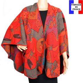 Poncho Picasso rouge