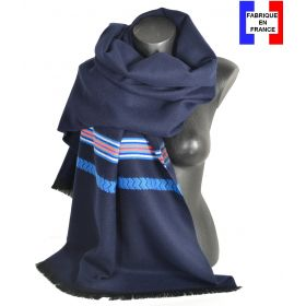 Châle Athna bleu made in France
