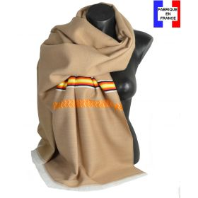Châle Athna beige made in France