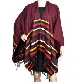 Poncho Vibration bordeaux made in France