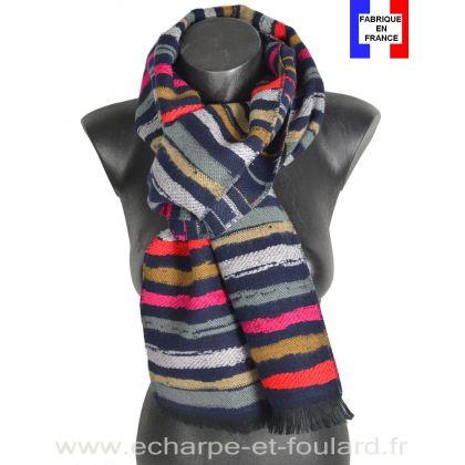 Echarpe Vibration bleue made in France