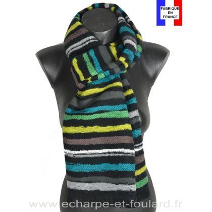 Echarpe Vibration verte made in France