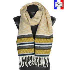 Echarpe Miao beige et jaune made in France