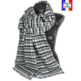 Châle Velouté gris made in France