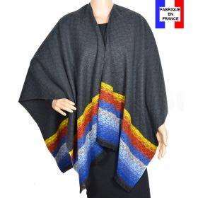 Poncho Horizon noir made in France